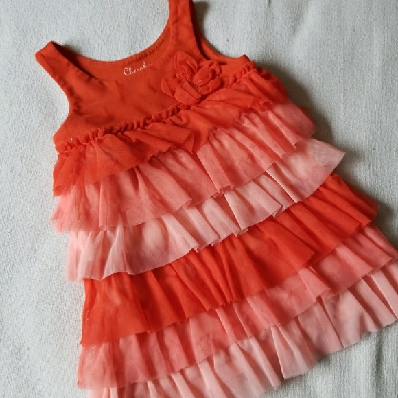 Cherokee Other - Orange hombre ruffle 2T dress